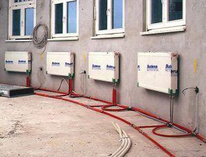 фото: радиаторы и отопителная система из пластика