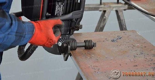 фото: Промышленный кромкорез для стальных листов