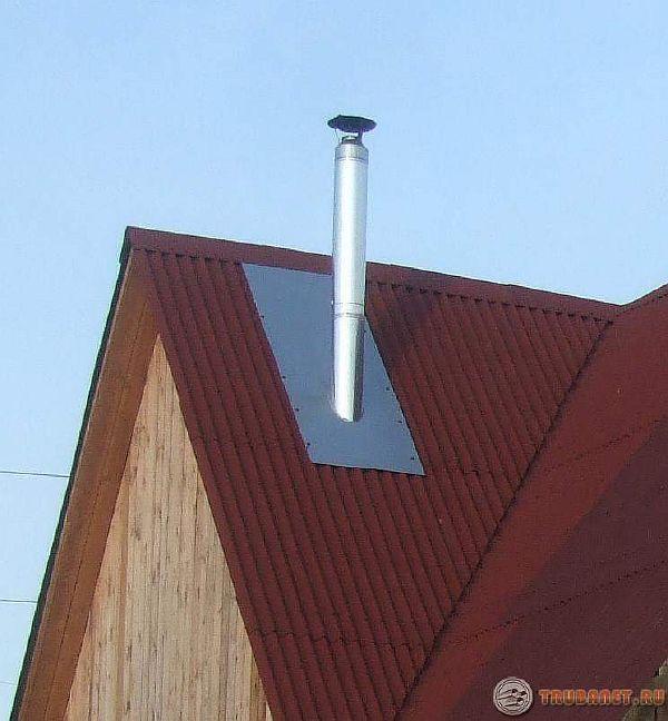 Фото: Труба для вывода дыма на крыше