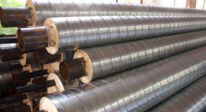 Фото: Изоляция стальных оцинкованных труб