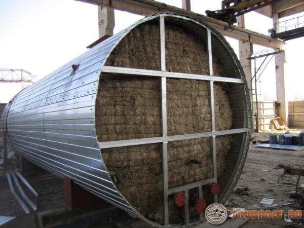 Фото: Теплоизоляция резервуаров