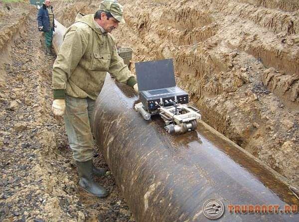 Фото: Ультразвуковой и визуальный осмотр магистрального трубопровода