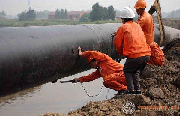 Фото: гидравлические испытания трубопроводов