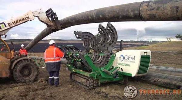 Фото: испытание технологических трубопроводов