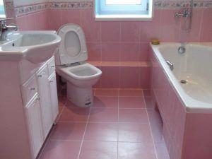 Фото: красивый интерьер совмещенной ванной и туалета