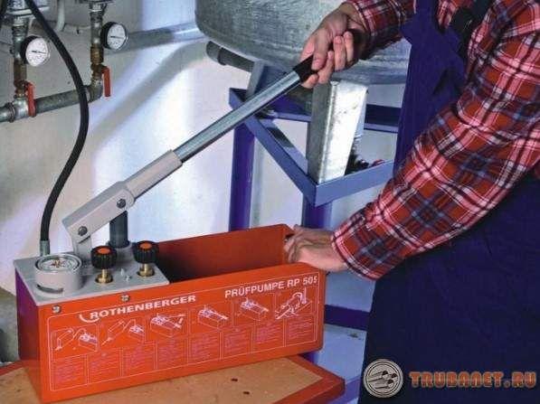 Фото: Опрессовка системы отопления