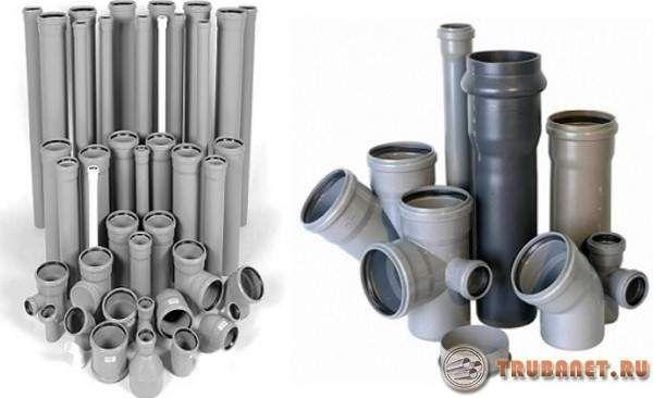 Фото: диаметры пластиковых труб