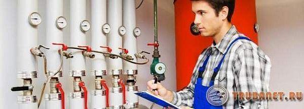 Фото: гидравлическое испытание труб систем отопления