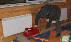 Фото: испытание трубопроводов систем отопления