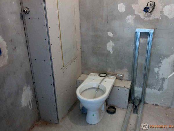 Как сделать короб в туалете из гипсокартона фото 222
