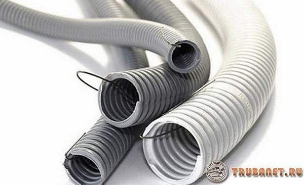 Фото: электротехнические гофрированные поливинилхлоридные трубки