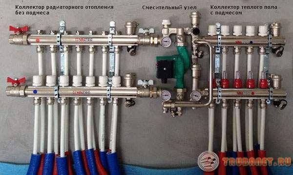 Фото: 7. Смесительный узел системы отопления дома