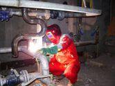 Фото: сварка оцинкованных трубопроводов