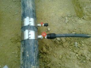 Фото 6. Хомут для стальной сети