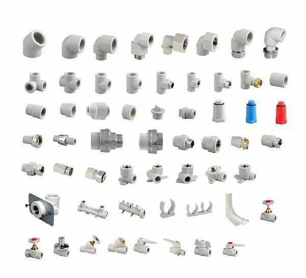 Фото 10. Пластиковые фитинговые устройства для металлопластиковых трубопрокатов