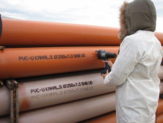 фото - маркировка пластикового трубопроката
