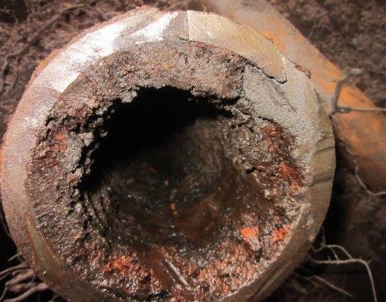 фото: внутренний просвет водопроводной трубы