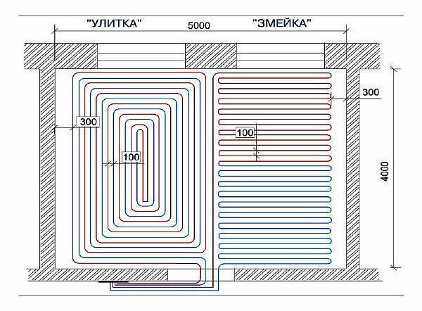 фото: схема - чертеж шага укладки