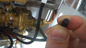 Фото: наладка установки работающей на газе