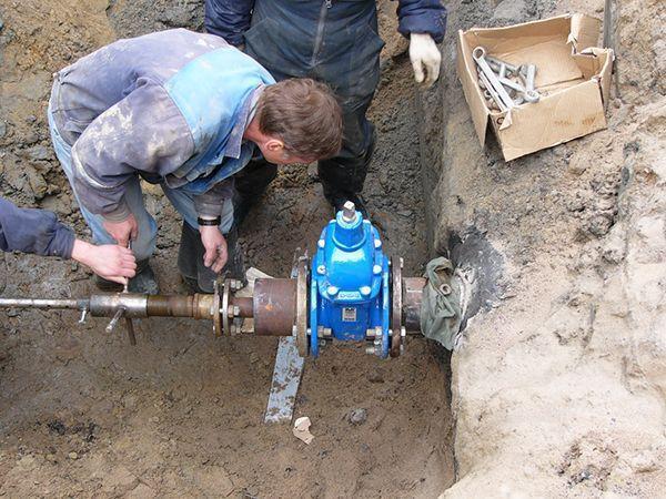 На запорной арматуры водопроводе монтажа правила