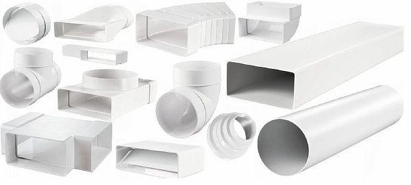 Фото - Пластиковые коробчатые воздуховоды для систем вентиляции и комплектующие изделия к ним