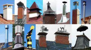 Фото – разнообразие конструкций дефлекторов для систем вентиляции частного дома