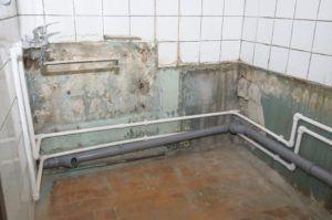 Фото – разводки в ванной комнате