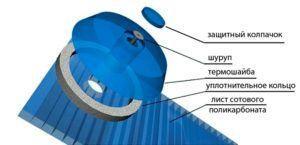 Фото – специальный крепеж для поликарбоната