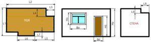 Онлайн расчет площади потолка, стен или пола с помощью калькулятора