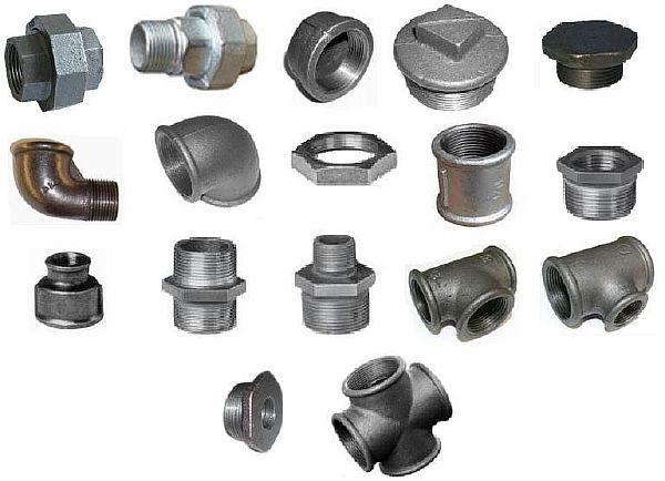 Фото – комплектующие изделия – фитинги – для монтажа трубопроводов из стальных труб