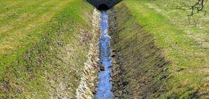 Фото – устройство открытой канавы