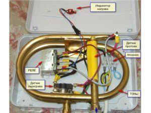 Фото – вариант устройства проточного водонагревателя