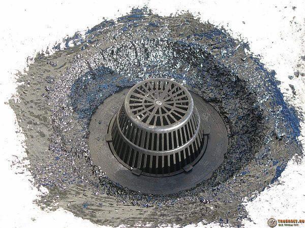 Фото – приемная воронка ливневой канализации