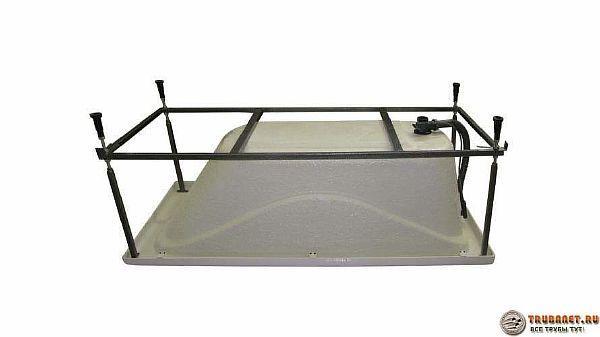 Фото – способ формирования металлической поставки для акриловой ванночки