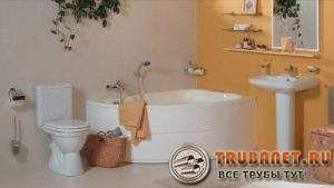 Фото – угловая ванна, раковина унитаза и умывальник линейки сантехнического оборудования Standard