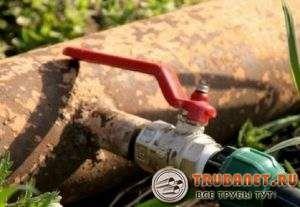 Фото – устройство для врезки в водопровод под давлением
