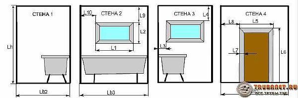 Фото - как рассчитать количество плитки в ванную калькулятором