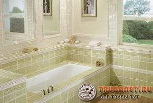 Фото – отделка керамикой помещения с ванной