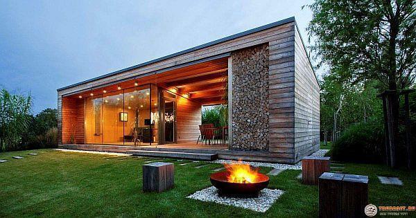 Фото – современная баня на участке загородного дома
