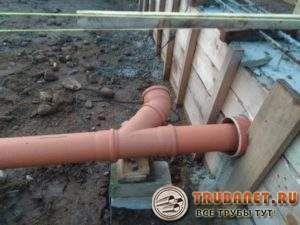 Фото – укладка наружной канализации