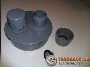 Фото – вакуумный клапан в разобранном виде, затвор показа внизу