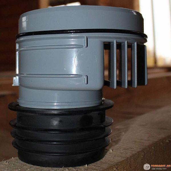 Фото – воздушный клапан для стояка канализации в частном доме