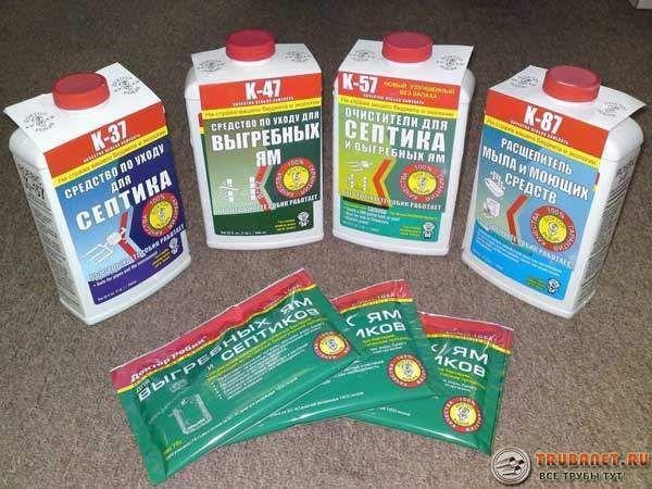 Фото – формы предлагаемых веществ для дезактивации фекальных стоков в выгребных ямах