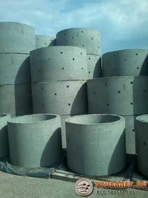 Фото – колечки с перфорацией стенок для канализационной системы