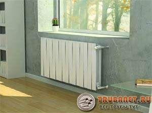 Фото – биметаллический радиатор в системе обогрева