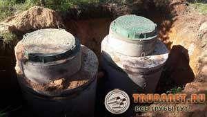 Фото – готовые резервуары для канализации из бетона