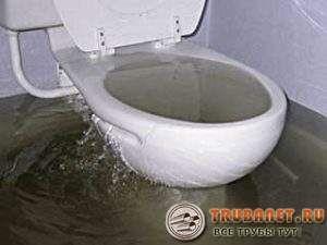 Фото – канализационный засор унитаза