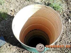 Фото – обустройство выгребной ямы с фильтрующим колодцем из пластиковых колец