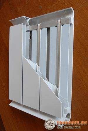 Фото – устройство алюминиевого радиатора