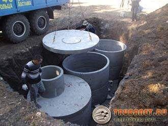Фото – Для обустройства выгребной ямы понадобится как минимум строительная бригада